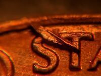 1969-S Lamination US Mint Error Lincoln Memorial Cent RARE
