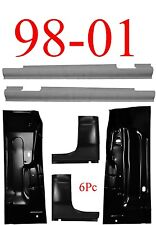 98 01 Dodge 6Pc Quad Cab Corner Slip-On Rocker & Floor Pan Truck Club Cab 4 Door