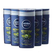 NIVEA FOR MEN SHOWER GEL ENERGY 250ML X 6