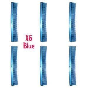 Denman Three-Row Comb - Blue Tame n Tease D12 brush X6
