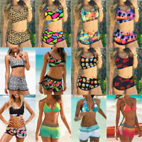 Women Sport Tankini Set With Boy Shorts Swimwear 2pcs Swimsuit Bikini Set Beach