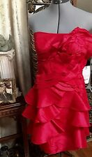 $149 Red Dress with a Pink Sheen Size 4 New