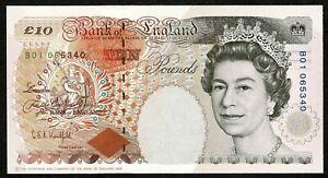 * Bank of England * £10 * Kentfield * P386a / B366 * Prefix B01 * aUNC