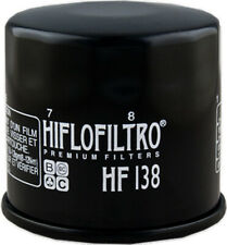 Oil Filter Black Hiflofiltro HF138 For 86-17 Aprilia Suzuki Kymco Arctic Cat