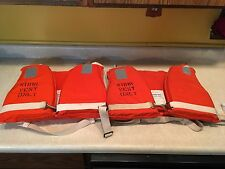 2 Vintage Work Vest For Merchant Vessels, Coast Guard Approved, Safety First Sup