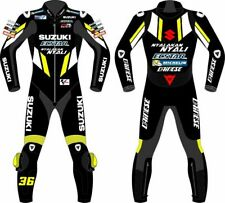 Suzuki GSXR Hommes Moto Combinaison Cuir Veste Pantalon Racer Armour protection
