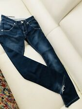 LOST IN PARADISE PANTS JEANS BLUE WHITE STITCHING ROCCO REGULAR SZ 29/32