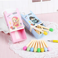 Cute Colorful Eraser Set In Box Lovely Kawaii Style For Kid Girl School Hobby
