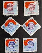 6 ROUMANIE timbres 1964 neuf sans charnière soviétique cosmonautes (espace)