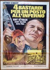 FILM-4 BASTARDI X UN POSTO ALL'INFERNO,ANNO 1967-MANIFESTO(100 X 140)N.137