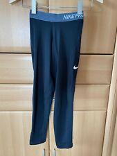 Nike Pro Leggins Sporthose Kindergröße M 140, 10-12 J. schwarz Tennis Freizeit