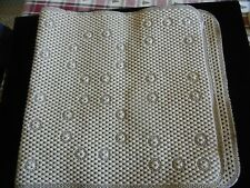 Soft Padded Beige Colored Mat With Suction Cups