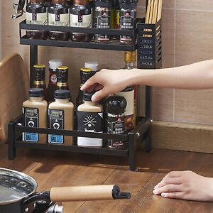 3 Tier Storage shelf Spice Herb Jar Rack Holder  For Kitchen Door Cupboard Wall