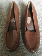 M&S Ladies Tan Leather Shoes-Size 5 (38)