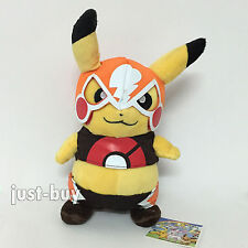 Pokemon Plush Cosplay Pikachu Libre Soft Toy Stuffed Animal Doll Teddy 8""