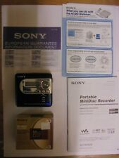 Sony MZ-NH600 Personal MiniDisc Player with instructions and new mini disks