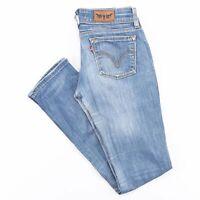 LEVI'S 571 Slim Straight Fit Women's Blue Jeans W28 L32