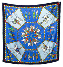 Hermes Scarf Stole L'arme Imperiale Russe by Michel Duchene Blue Silk Russia 36""