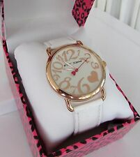 Betsey Johnson Rose Gold Watch White Band NWT