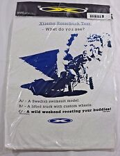 "Xtreme Motorcross White T-Shirt ""Rorschach Test"" New L"
