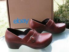 DANSKO Brown Leather Clogs Comfort Shoes Womens size 40