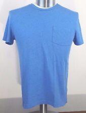 Kenneth Cole Reaction Mens Blue Short Sleeve Crew neck T Shirt Front pocket