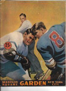 1946-47 New York Rangers-Canadiens Program Rangers Crush Habs BEAUTY!!