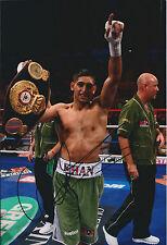 Amir KHAN Signed 12x8 Autograph Photo AFTAL COA WBA World Champion Boxer RARE