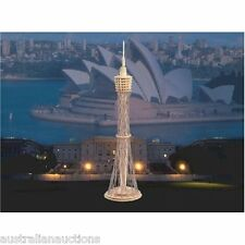 3x 3D WOODEN PUZZLES EIFFEL TOWER SYDNEY TOWER CENTERPOINT  + KUALA LUMPUR TOWER