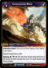 WOW WARCRAFT TCG TOMB OF THE FORGOTTEN : CONCUSSION BLOW X 4