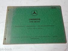 Teilekatalog Spare Parts List Mercedes Benz Unimog Type OM 621 Stand 07-1972