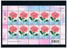 THAILAND 2017 Symbol of Love (Rose) F/S (5b x 10)