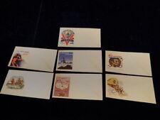 1942 WWII Patriotic Envelope Lot of 7 Different Illustrations Unused A1