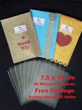 50 Clear Cellophane Bags - 7.5cm X 15cm - 40 micron - Non Seal - Non Adhesive