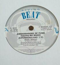 "AMBASSADORS OF FUNK - 7"" Vinyl - Supermarioland / Instrumen- 1992 - Living Beat"