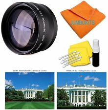 58MM 2.2x HD Telephoto Zoom Lens for Canon EF 28mm f/1.8 50mm f/1.4 USM 18-55mm