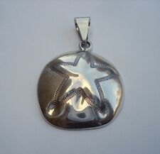 Mexican Jewelry Pendant ATI Sand Star Mexico 925 Sterling Silver Signed 00990