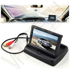 """MONITOR RETROMARCIA LCD A SCOMPARSA TFT 4.3"""" A COLORI AUTO CAMPER PER TELECAMERA"""