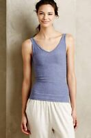 New Anthropologie Womens Reversible Seamless Tank Top Cami Heather Blue $24