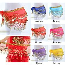 New Belly Dance Costume Hip Scarf Skirt Bead Gold Coin Dancer Dancing Wrap Belt