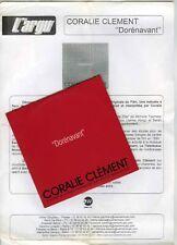 CD SINGLE PROMO OST L'IDOLE  CORALIE CLEMENT DORENAVANT (BIOLAY/YARED)CD+PRESSA4