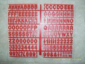 "1"" Red Coca-Cola Menu Board Letters & Numbers Set!"