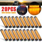 20pcs 3.8 Amber 6 Led Side Marker Indicators Light Truck Trailer Car Clearance