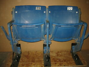 Tiger Stadium seats - BLUE - Unrefurbished, Authentic w/ COA