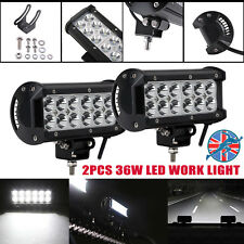 "New 7"" 2x 36W LED Light Bar Floodlight Work Fog Lamp Off-road 12V 4X4 4WD Truck"