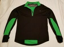 MENS RONHILL RUNNING JACKET COAT SIZE M BLACK GREEN