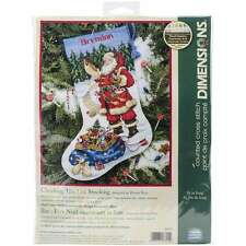 "Checking His List Stocking Counted Cross Stitch Kit 16"" Long 14 C 088677086459"