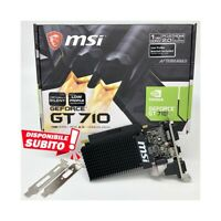 Tarjeta Gráfica MSI Nvidia Geforce Gt 710 1GB DDR3 GT710 Low Profile LP Graf