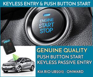 KIA RIO 2012+ Push Button Engine Ignition Start & Keyless Entry Installation