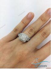 1.55 Ct Diamond Bridal Set Ladies Wedding Engagement Ring White Gold Over